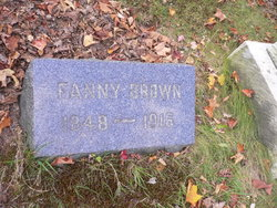 Fanny <I>Edwards</I> Brown