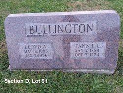 """Frances L. """"Fannie"""" <I>Spears</I> Bullington"""