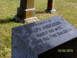 Mary E <I>Langley</I> Anderson