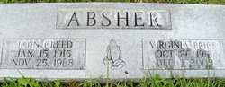 "Virginia ""Sis"" <I>Price</I> Absher"