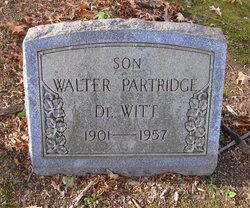 """Walter Partridge """"Tubby"""" DeWitt"""