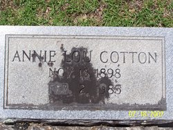 Annie Lou <I>Cotney</I> Cotton