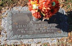Geraldine A <I>Martin</I> McAlister