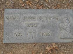 "Mary Jane ""Jane"" Sutter"