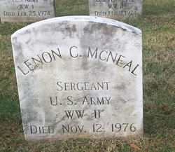 Sgt Lenon C McNeal