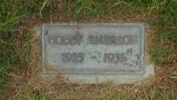"Robert Edmund ""Bobby"" Emerson"