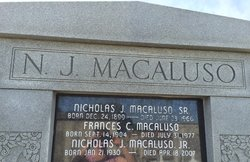 Nicholas J. Macaluso, Sr