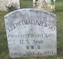 PFC Joseph J Matuszewski