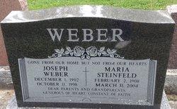 Maria <I>Steinfeld</I> Weber