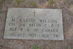 Sgt M. Aaron Wilson