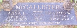 Charles W McCallister