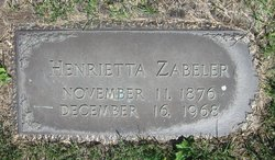 Henrietta <I>Johnson</I> Zabeler
