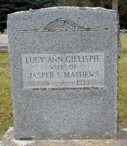 Lucy Ann <I>Gillispie</I> Mathews
