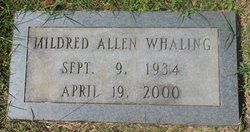 Mildred <I>Allen</I> Whaling