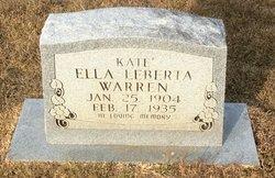 Kate Ella Leberta <I>Williams</I> Warren