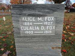Alice Mary <I>LaRoche</I> Fox