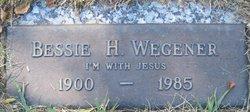 Bessie H Wegener