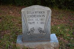 Lula <I>Myrick</I> Anderson