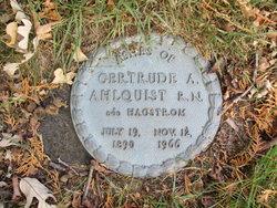 Gertrude A. <I>Hagstrom</I> Ahlquist
