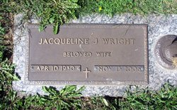 Jacqueline Jewell <I>Brown</I> Wright