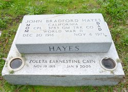 "Corp John Bradford ""Dad"" Hayes"