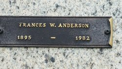 Frances W Anderson