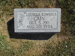 Mrs Luella <I>Edwards</I> Cain