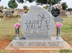 Janet Jean <I>Taliaferro</I> Helm