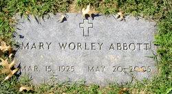 Mary <I>Worley</I> Abbott
