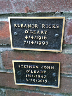 Eleanor <I>Ricks</I> O'Leary