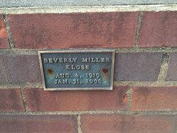 Beverly <I>Miller</I> Klose