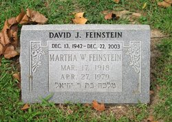 Martha <I>Weingart</I> Feinstein