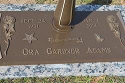 Ora <I>Gardner</I> Adams
