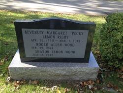 "Beverley Margaret ""Peggy"" <I>Lemon</I> Rigby"