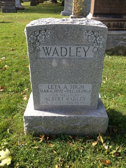 Leta A <I>High</I> Wadley