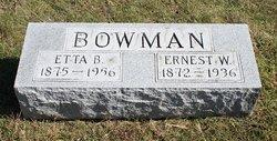 Ernest W Bowman