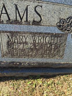 Mary <I>Wright</I> Williams