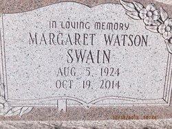 Margaret <I>Watson</I> Swain