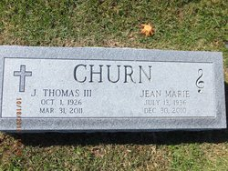 J Thomas Churn, III