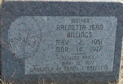 Raenetta Jean <I>Hildreth</I> Billings