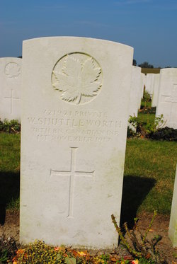 Private W Shuttleworth