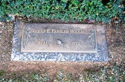 Violet E <I>Fansler</I> Holland