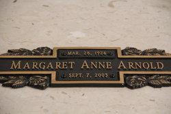 Margaret Anne <I>Tackett</I> Arnold