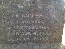 Lydia Ann <I>Brown</I> Thompson
