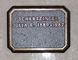 Julia E <I>Nicklin</I> Schertzinger