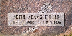 Edith Helen <I>Siebold</I> Adams Fuller