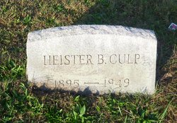 Heister B Culp