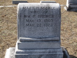 Mary H. <I>Mickle</I> Brewer