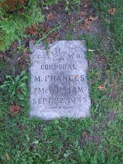 CPL Margaret Frances McWilliam