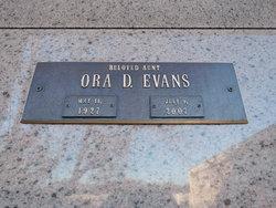 Ora Dee <I>Perkins</I> Evans